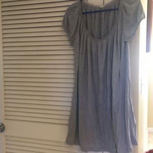 Grey jersey jcrew cotton dress